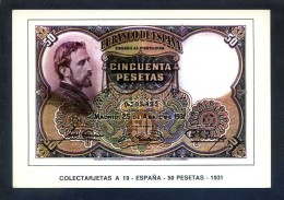 Colectarjetas A 19 - *España - 50 Pesetas - 1931* Ed. Eurohobby. Nueva. - Monedas (representaciones)