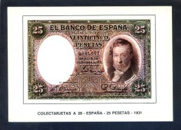 Colectarjetas A 20 - *España - 25 Pesetas - 1931* Ed. Eurohobby. Nueva. - Monedas (representaciones)