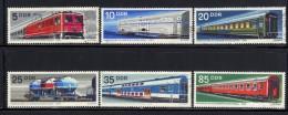 ALLEMAGNE ORIENTALE- Série Complète De 1973- Y&T N°1539 à 1544- Oblitérée (trains) - Treni