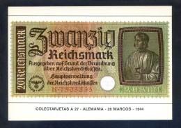 Colectarjetas A 27 - *Alemania - 20 Marcos - 1944* Ed. Eurohobby. Nueva. - Monedas (representaciones)