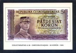 Colectarjetas A 28 - *Checoslovaquia - 50 Korún - 1945* Ed. Eurohobby. Nueva. - Monedas (representaciones)