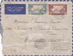 1938, LETTRE , SENEGAL, DAKAR Pour La FRANCE,  Yv 133.126 /1224 - Storia Postale