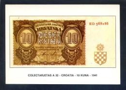 Colectarjetas A 32 - *Croatia - 10 Kuna - 1941* Ed. Eurohobby. Nueva. - Monedas (representaciones)