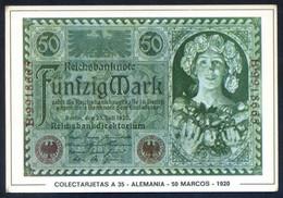 Colectarjetas A 35 - *Alemania - 50 Marcos - 1920* Ed. Eurohobby. Nueva. - Monedas (representaciones)