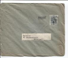 TP 279 Roulette Gosselies 1929 + Gff Urgent Tarif Imprimé V.Bruxelles PR539 - Vorfrankiert