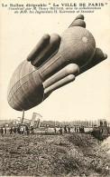 Themes Div-ref H319- Aviation -dirigeable - Le Ballon Dirigeable *la Ville De Paris * - Carte Bon Etat - - Dirigibili