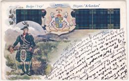 The Highland Clan Gordon - Badge Ivy Arms Slogan A. Gordon - Non Classés