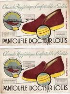 VP977 - ANGOULEME - Buvard - Pantoufle Docteur LOUIS X 2 - Buvards, Protège-cahiers Illustrés