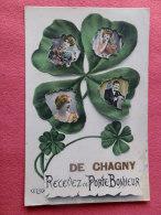 Dep 71 , Cpa De CHAGNY , Recevez Ce Porte Bonheur (V.47)Recto/Verso - Chagny