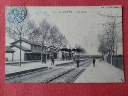 Dep 71 , Cpa  CLUNY , 50 , La Gare (V.55)Recto/Verso - Cluny