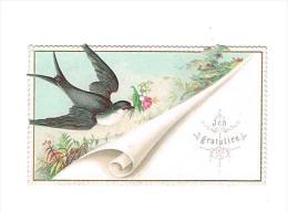 Gelukwensen : ICH GRATULIRE - (omstreeks 1880 / 1890) - 5 X 8 ,5 Cm. - Fiches Illustrées