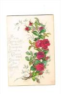 """Gelukwensen : """"Zu All Der Rosenpracht ...""""  - (omstreeks 1880 / 1890) - 7,5  X 11 Cm. - Fiches Illustrées"""