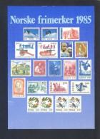 Noruega. *Norske Frimerker 1985* Ed. Utgitt Av Postverket - MMF/1647. Nueva. - Sellos (representaciones)