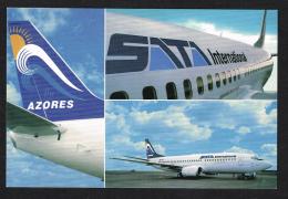 Avião Airplane Plan SATA AZores Açores Portugal Boeing 737-300 - 1946-....: Moderne