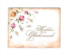 """Gelukwensen : """"Herzlichen Glückwunsche""""  - (omstreeks 1880 / 1890) - 10  X 7,5 Cm. - Fiches Illustrées"""