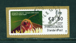 IRELAND - 2011  Post And Go/ATM Label  Elephant Hawk Moth  Used On Piece As Scan - Franking Labels
