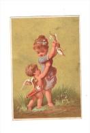 """Gelukwensen : """"Herzlichen Glückwunsch""""  - (omstreeks 1880 / 1890) - 7,5  X 11 Cm. - Fiches Illustrées"""