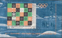 YAR - 1972 - Olympics, Olympiade, Olympiques - Sapporo 1972 - Gebruikt/gebraucht/used - Winter 1972: Sapporo