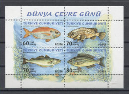 Turkey Fishes Poissons Peces Fische 2005 S/s MNH - Pesci