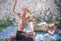 S43-128  @  Nus Naakt Nudity Nude Naked Aktmalerei, Body Art ( Postal Stationery , Articles Postaux , Postsache F ) - Desnudos