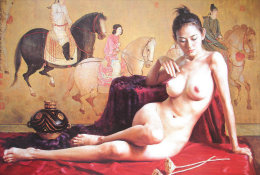 S43-123  @  Nus Naakt Nudity Nude Naked Aktmalerei, Body Art ( Postal Stationery , Articles Postaux , Postsache F ) - Desnudos