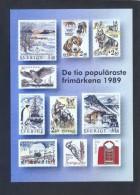 Suecia. *The Ten Most Popular Swedish Stamps 1989* Nueva. - Sellos (representaciones)