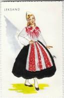 Leksand Woman Fashion, Sewn Dress On Postcard, C1950s Vintage Postcard - Other