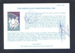 Groenlandia. *The Greenland Christmas Seal 1988* Circulada. - Sellos (representaciones)