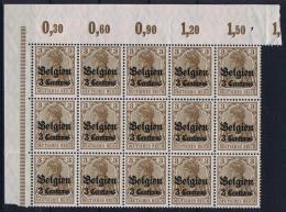 Deutsche Reich: Belgium Mi Nr 1 MNH/** Cornerpiece - Besetzungen 1914-18