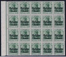 Deutsche Reich: Belgium Mi Nr 2 MNH/** Sheet Margin - Besetzungen 1914-18