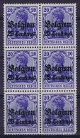 Deutsche Reich: Belgium 1914 Mi Nr 4 6-block MNH/** - Besetzungen 1914-18