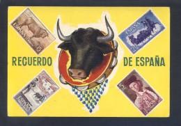 España. *Recuerdo De España* Ed. Excl. Victor Mod. Nº 4. Nueva. - Sellos (representaciones)