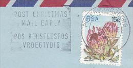 Air Mail SOUTH AFRICA Stamps COVER Pietermaritzburg SLOGAN Pmk POST CHRISTMAS MAIL EARLY - Christmas