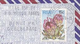 Air Mail SOUTH AFRICA Stamps COVER Pietermaritzburg SLOGAN Pmk  USE POST OFFICE YEELOW PAGES - Post