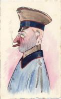 Bruxelles - Guerre 1914 / 1918 - Aquarelle, Caricature D'officier Allemand (superbe) - Belgique