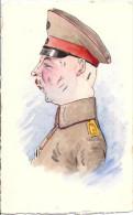 Bruxelles - Guerre 1914 / 1918 - Aquarelle, Caricature D´officier Allemand (superbe) - Belgique