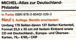 MlCHEL Atlas Der Welt-Philatelie 2013 Neu 79€ Mit CD-Rom Zur Postgeschichte A-Z Mit Nummernstempeln Catalogue Of Germany - Phonecards