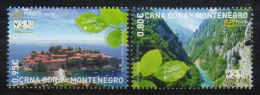 Montenegro 2012 Europa, Visit... River Tara Canyon And Saint Stephen Island, Set MNH - 2012