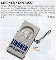 Letterscope Wasserzeichen-Sucher Neu 93€ Prüfen Von WZ Auf Briefen/Karten Check Of Stamps Paper Wmkd. LINDNER Offer 9110 - Pinces, Loupes Et Microscopes