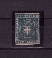 TUSCANY GRANDUCATO 1860 Governo Provvisorio VERY RARE ITEM  20 Cent Mint With Gum (Repaired) - Tuscany