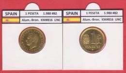 SPAIN /JUAN CARLOS I    1 PESETA  1.980 #82  Aluminium-Bronze  KM#816   Uncirculated  T-DL-9371 - 1 Peseta
