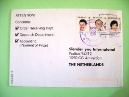 Philippines 2001 Cover To Holland - Great Filipinos - Philippines