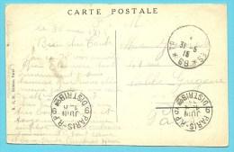"""Kaart """"YPRES """" Met Stempel TRESOR ET POSTES 69 Op 31/5/1915 - Not Occupied Zone"""