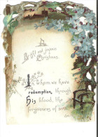 Antique Christmas Card A Bright And Joyous Christmas  In Whom We Have Redemption Eph. 1.7 - Xmas
