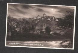 AK Eilende Wolken Am Abend Uber Schloss Burg Ansichtskarte Ungelaufen Unused POSTCARD - Solingen