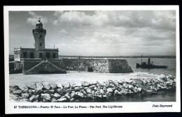 Cpsm Espagne Tarragona Puerto El Faro Le Port Le Phare      BCH7 - Tarragona