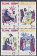 SAMOA, 1976 XMAS BLOCK 4  MNH - Samoa