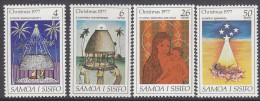 SAMOA, 1977 XMAS 4 MNH - Samoa