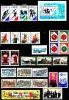 Allemagne Orientale 2754 / 82 + 2786 / 07 + 2809 / 18 + 2820 / 25 Et Bf 89 / 95 ( Cote 60.00 Euros ) - Used Stamps