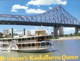 (700) Australia - QLD - Brisbane Kookaburra Queen River Paddle Boat Passing Under Bridge - Brisbane